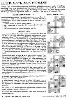 logic puzzle worksheets 5th grade 10845 cis 554 logic puzzles