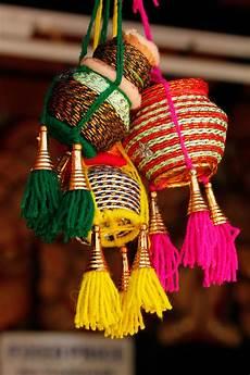 Colorful Handmade Indian Pots Diy Diwali Decorations