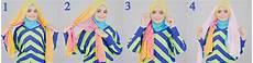 Cara Pakai Jilbab Cara Memakai Jilbab Pesta Dua Warna