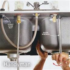 Kitchen Faucet Replacement How To Replace A Kitchen Faucet The Family Handyman
