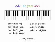 beginner piano worksheets color the piano keys sheet