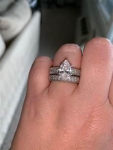 stunning pear engagement ring matching wedding band i