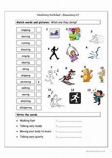 Vocabulary Matching Worksheet Elementary 2 3