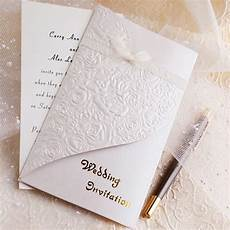 Embossed Card For Wedding Invitations
