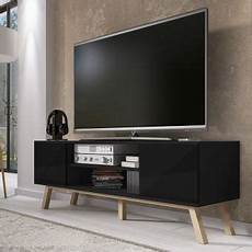 meuble tv vero bois 150 cm noir mat meuble tv achat