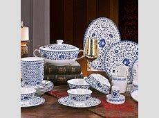 Good quality Ceramic plates dishes set blue and white