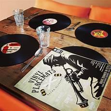 set de table vinyle set de table disque vinyle x4 insolite