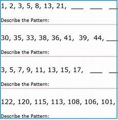 patterns worksheets for grade 5 8 teaching resources and references pattern