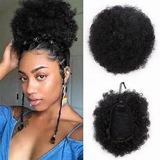 com 8inch human hair afro puff ponytail