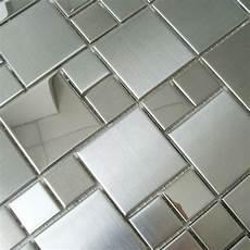 Kitchen Backsplash Tile Mesh by Mosaic Tile Mirror Sheets Square Brushed 304 Stainless