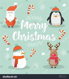 merry christmas cute modern card santa stock vector 524258506