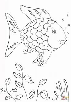 rainbow fish coloring page free printable coloring pages