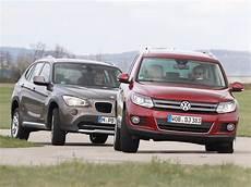 Sitzhöhe Auto Vergleich - markenvergleich 2012 bmw x1 sdrive18d gegen vw tiguan 2 0