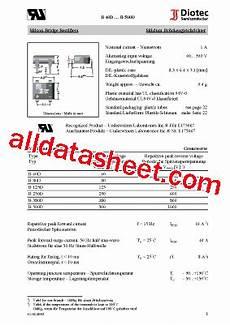 b380d b380d datasheet pdf diotec semiconductor