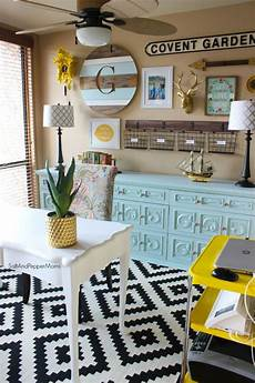 Yellow Home Decor Ideas by Home Office Makeover Decorating Inspiration With Yellow