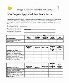 7 sle degree feedback forms evaluation template free survey review it rfp excel nominating