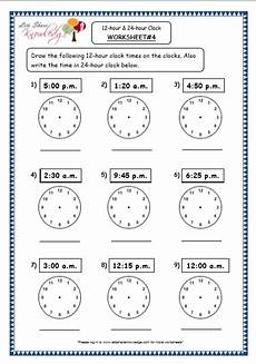 grade 4 maths resources 7 1 time 12 hour 24 hour