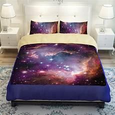galaxy bedding universe outer space themed galaxy print bedlinen sheets queen