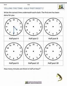 time worksheets grade 4 2887 telling time worksheets o clock and half past