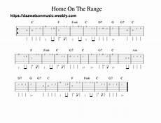 guitar songs home on the range easy guitar tab