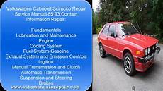 free service manuals online 1991 volkswagen cabriolet windshield wipe control vw cabriolet scirocco 85 93 services repair manual youtube