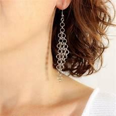 longue boucle d oreille pendante boucle d oreille longue pendante en acier inoxydable lo