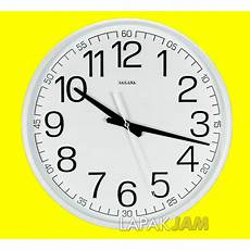 jam dinding sakana 468n diameter 36 cm warna putih hitam coklat shopee indonesia