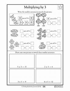 multiplication sentence worksheets for grade 3 4813 3rd grade math worksheets number sentences multiplying by 3 greatschools