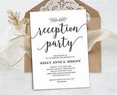 Reception Wedding Invitation wedding reception invitation printable reception card