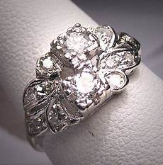 antique diamond wedding ring band vintage art deco 1920