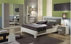 Chambre Compl 232 Te Laqu 233 Blanc Gris Niagara Meuble Chambre