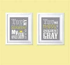 Etsy Yellow And Gray Bathroom by Personalized Gift For You Are My Prints Grey