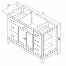 Dimensions Of Bathroom Vanity by 48 Quot Modena Single Bath Vanity Bathgems