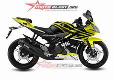 R15 2018 Modif by Modif Striping Yamaha R15 Black Yellow Warna Cerah Asyik