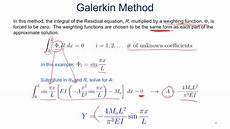 weighted residual 4 5 galerkin youtube