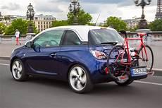 vauxhall adam gets flexfix bike carrier auto express