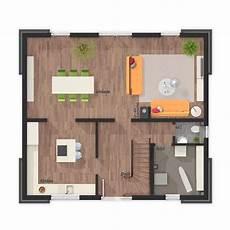 einfamilienhaus grundriss erdgeschoss quadratisch mit