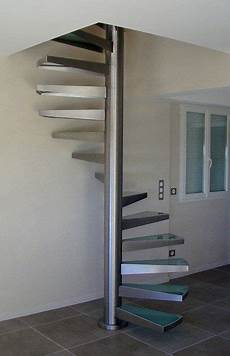 escalier helicoidal en inox et verre escaleras de