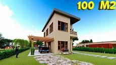 si casa plano de casa de 100m2 en dos plantas house plan 100sqm