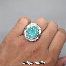 Cincin Permata Batu Emerald Beryl Zamrud 4 35 Ct Asli