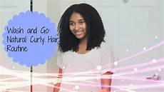 wash and go natural curly hair routine youtube