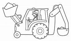 Ausmalbilder Bagger Traktor Traktor Tegning Html Sketch Coloring Page