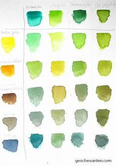 Türkis Farbe Mischen - der gr 252 ne faden mischen gr 252 nt 246 nen in aquarell