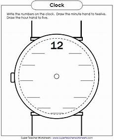new worksheet write the numbers on the clock face maybe