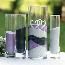 personalized linked hearts sand ceremony vase