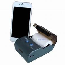 mini bluetooth thermal mobile receipt printer wireless portable with battery kj