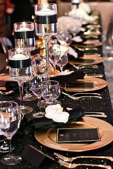 54 black white and gold wedding ideas gold party wedding table black gold party