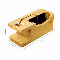 Bakeey Bamboo Multi Function Charger Dock by Bakeey 3 Usb Port Bamboo Wood Charging Dock Station Phone