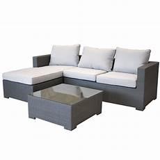 garten sofa garten lounge couch aus polyrattan gartencouch sofa grau