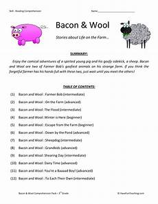 3rd grade reading comprehension worksheets reading comprehension worksheet bacon and wool collection